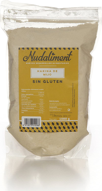 Harina de Mijo Sin gluten 1000 gr: Amazon.es: Alimentación y ...