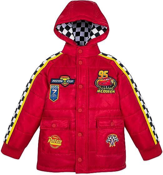 New Disney Cars Lightning McQueen Racing Jacket for Boys Sz 5//6