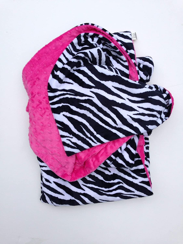 Boy or Girl Minky Blanket Zebra Blanket Minky Baby Blanket size 40x50 Minky Toddler Blanket Safari Blanket Zebra