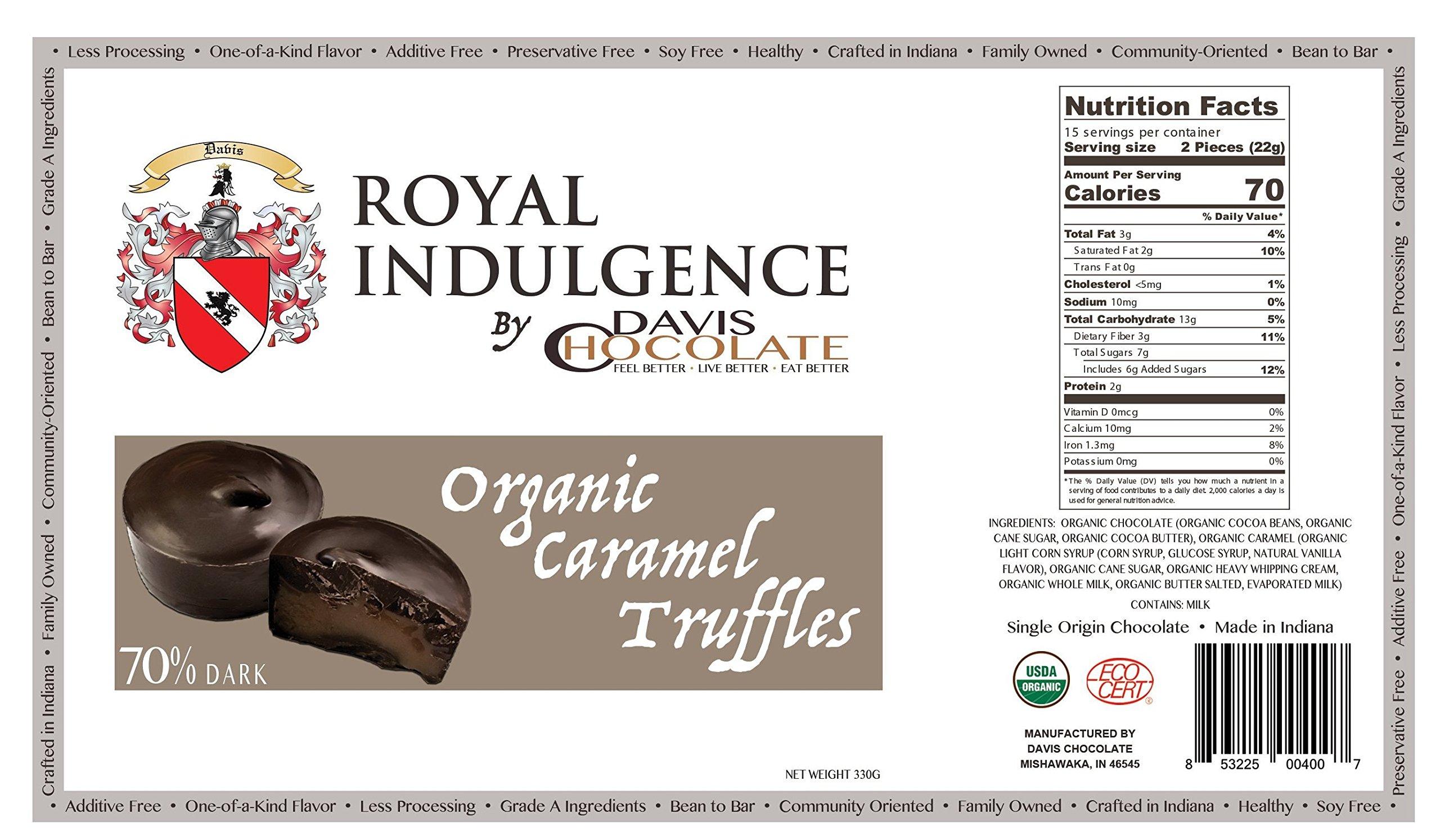 Royal Indulgence 70% DARK CHOCOLATE ORGANIC PEANUT BUTTER TRUFFLES