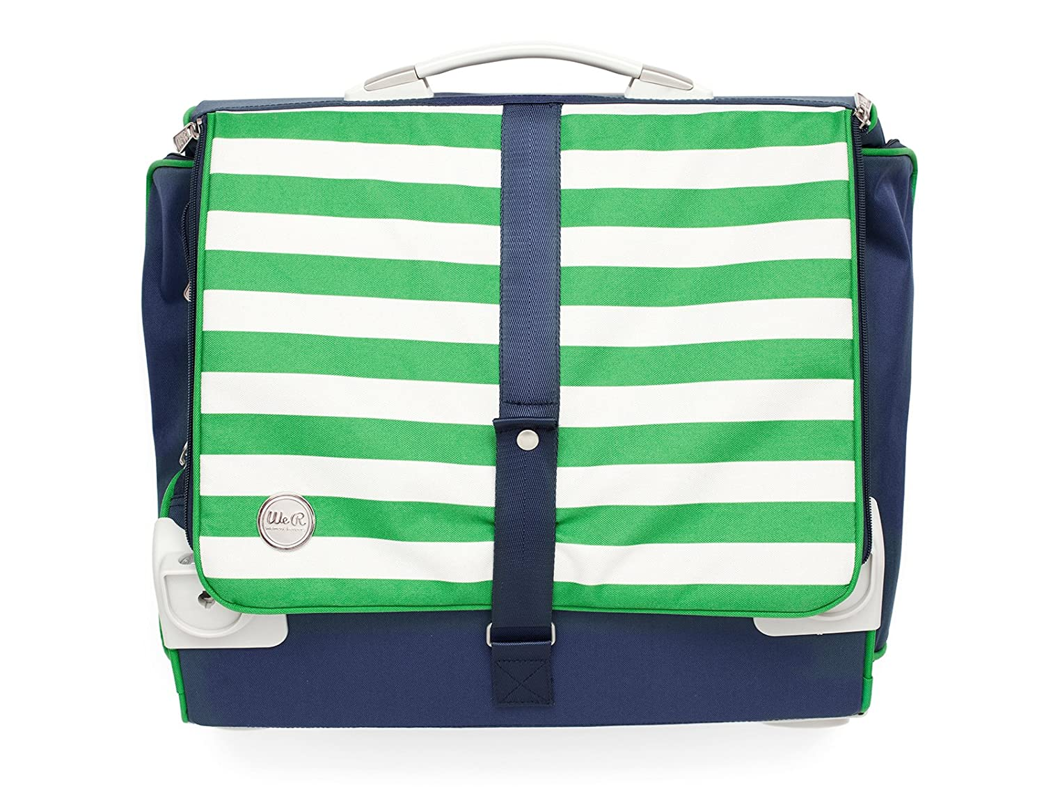 Navy /& Green 360-Degree Fold Up Crafter/'s Bag by We R Memory Keepers