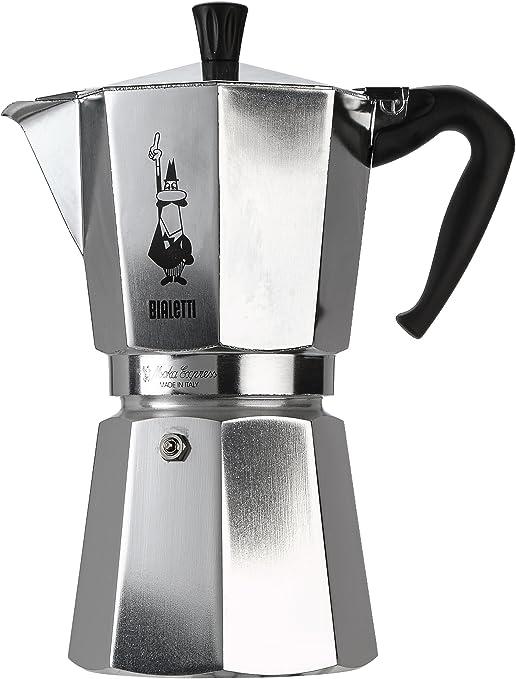 Bialetti Moka Express - Cafetera Espresso para 12 Tazas, Color Plata (Reacondicionado Certificado): Amazon.es: Hogar