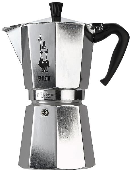 Bialetti Moka Express - Cafetera espresso para 12 tazas, color ...