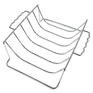Amazon.com : Mr. Bar-B-Q 06828Y Chrome Rib and Roast Rack ...