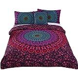 Sleepwish 4 Pcs Bohemian Mandala Bedding Posture Million Romantic Soft Bedclothes Plain Twill Boho Duvet Cover Set Full Size