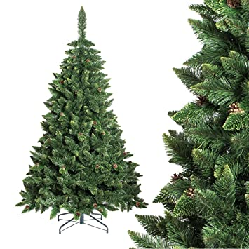 fairytrees rbol de navidad artificial modelo pino verde natural material pvc pias autnticas