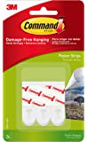 Command Poster Hanging Strips, Small, White, 24-Pairs (17024-24ES)