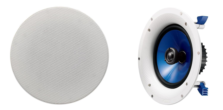 YAMAHA シーリングスピーカー 小型設備用天井埋め込み型 ホワイト (1ペア) NS-IC800 B00796ZZYE