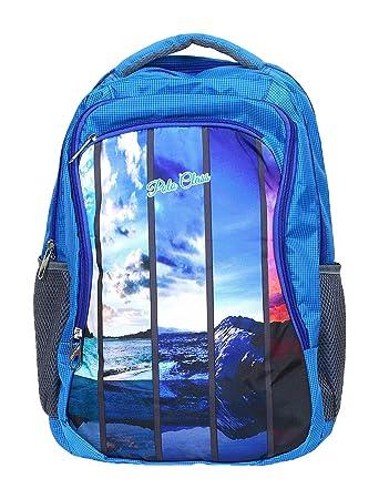 1f575d6bd0e2 POLO CLASS Fabric 25 Liters Blue School Bag (BNB-PC22)  Amazon.in  Bags