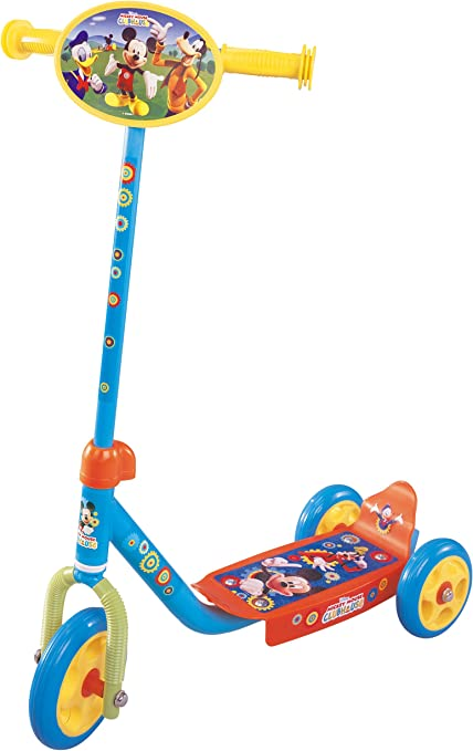 Amazon.com : Stamp Disney Mickey Mouse 3 Wheel Scooter ...