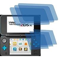 6x Crystal clear klar Schutzfolie für New Nintendo 2DS XL Konsole Premium Displayschutzfolie Bildschirmschutzfolie Schutzhülle Displayschutz Displayfolie Folie