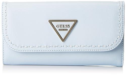 Guess - Slg Wallet, Carteras Mujer, Azul (Sky), 2x10x21 cm (