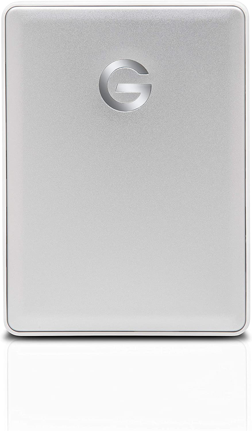 G-Technology 2TB G-DRIVE Mobile USB-C (USB 3.1 Gen 1) Portable External Hard Drive, Silver - 0G10339