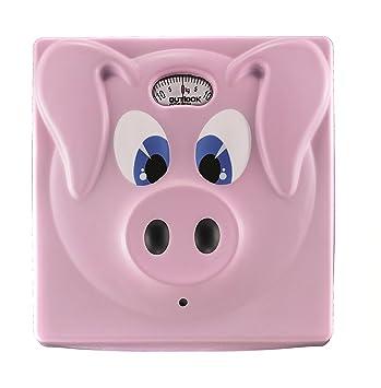 Outlook Design Piggy Bascula de Baño analogica, Forma de Cerdo, Rosa: F.Castiglione Morelli: Amazon.es: Hogar