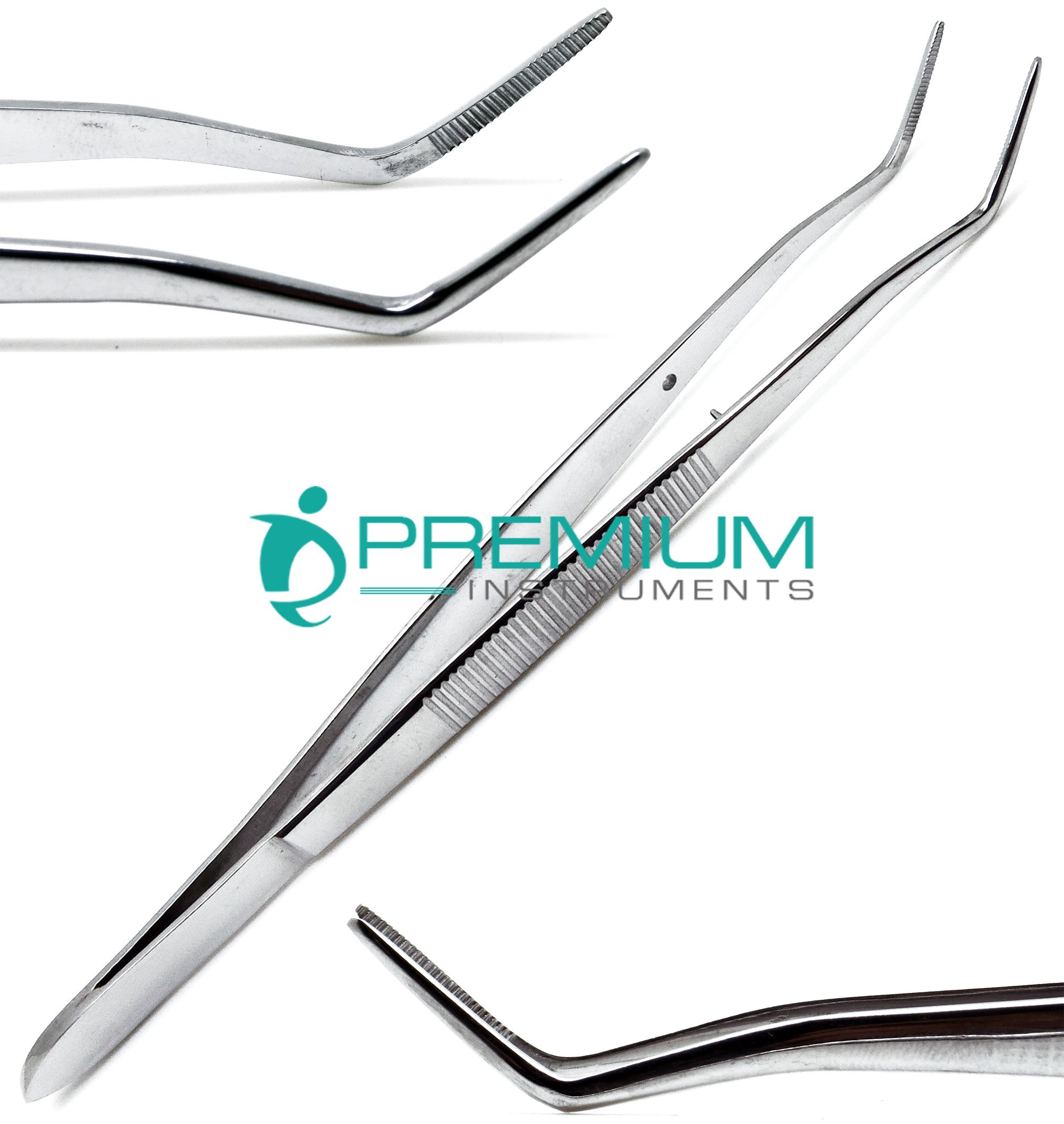 Meriam Foil Dental Cotton Tweezer Serrated Angled Beak Dressing Pliers Surgical Forcep Diagnostic Instruments