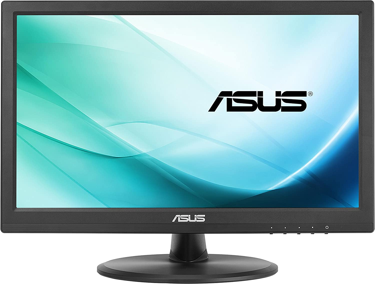Asus VT168H Monitor 15.6', 1366x768, TN, 10-Point Touch Monitor, HDMI, Flicker Free, Low Blue Light, Certificato TUV 90LM02G1-B02170