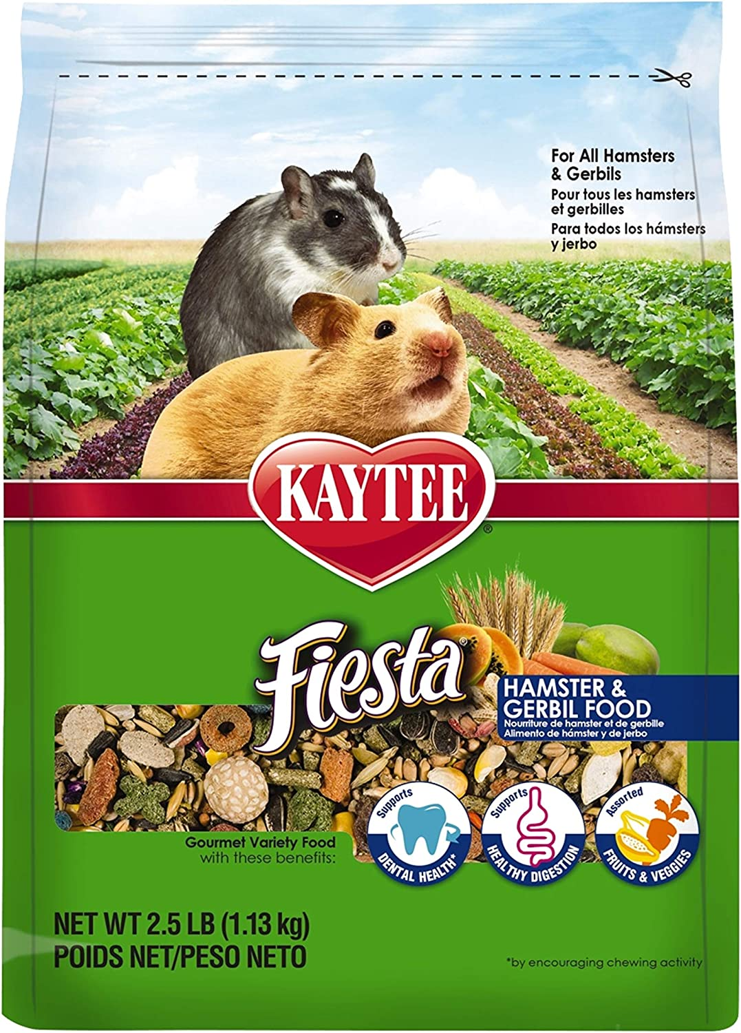 Kaytee Fiesta Hamster And Gerbil Food, 2.5-Lb Bag