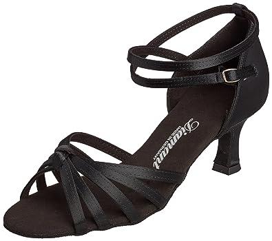 Diamant Damen Latein Tanzschuhe, Chaussures de Danse de salon femmes - Noir - Noir, 33 1/3