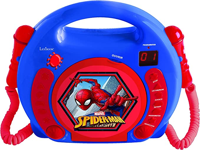 LEXiBOOK Spider Man CD Player With Microphone