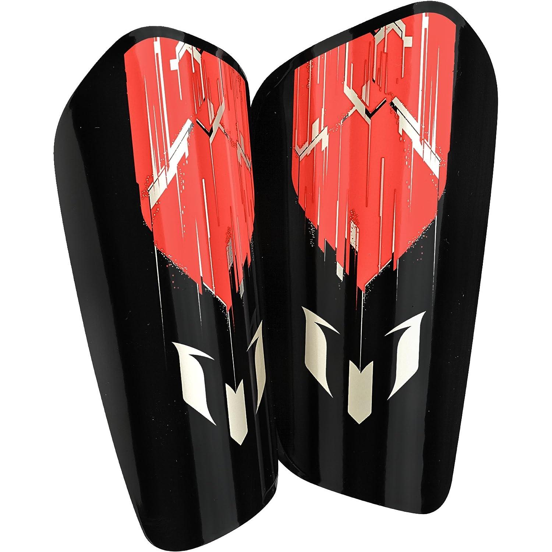 Adidasパフォーマンスメッシ大人用10 Lesto Shin Guard B0105YFLBI Large|Solar Red/Black/Dust Metallic Solar Red/Black/Dust Metallic Large