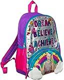 JoJo Siwa Bow Zaino Ruck Sack Sholder Borsa Large Poket Stampa Back Pack Arcobaleno, nuvole e glitter Dettagli Perfect School, Holiday o Dance Bag