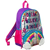JoJo Siwa Bow Backpack Ruck Sack Sholder Bag Large Poket Print Back Pack Rainbow, Clouds and Glitter Details Perfect School, Holiday or Dance Bag
