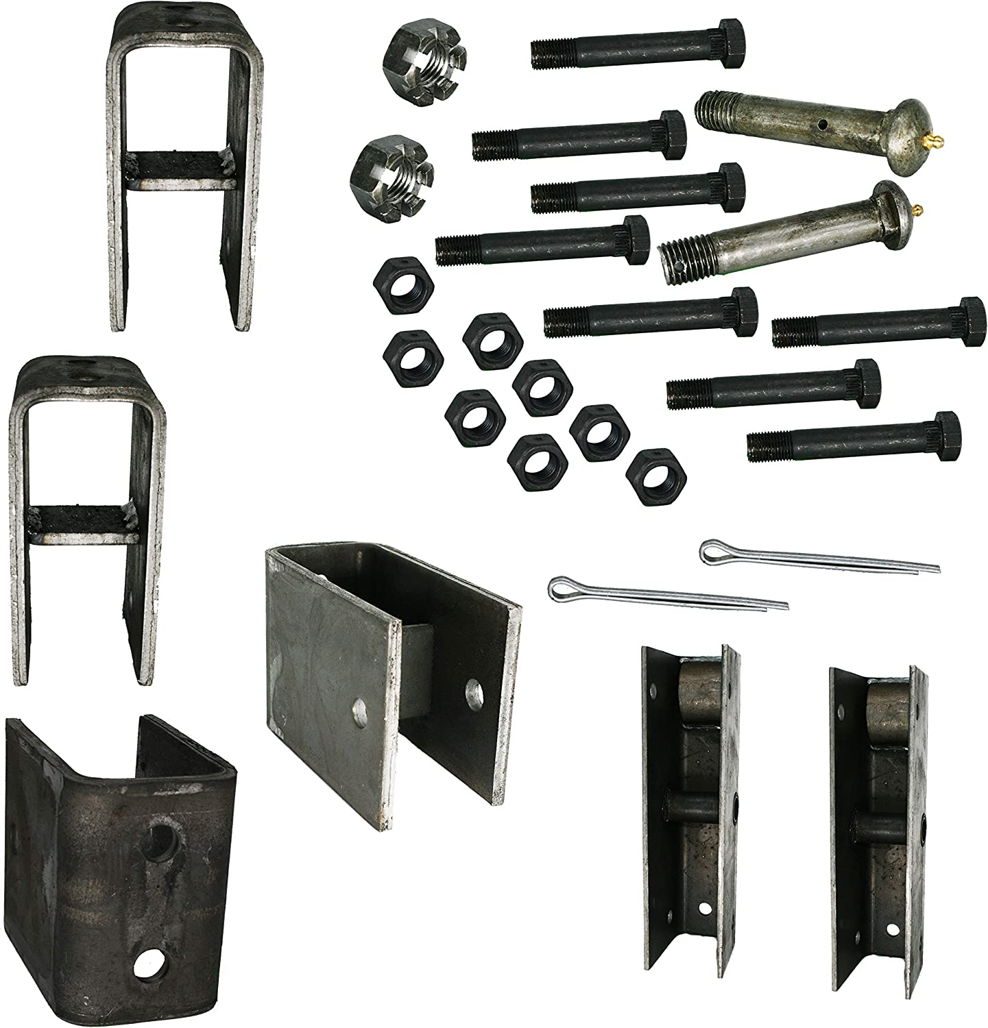 M-parts Trailer Tandem Slipper Hanger Kit for 5200-8000 lb Axles MATAPT6SE