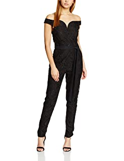 64c46f54d60 Little Mistress Women's Lace Bandeau Tailored Jumpsuits: Amazon.co ...