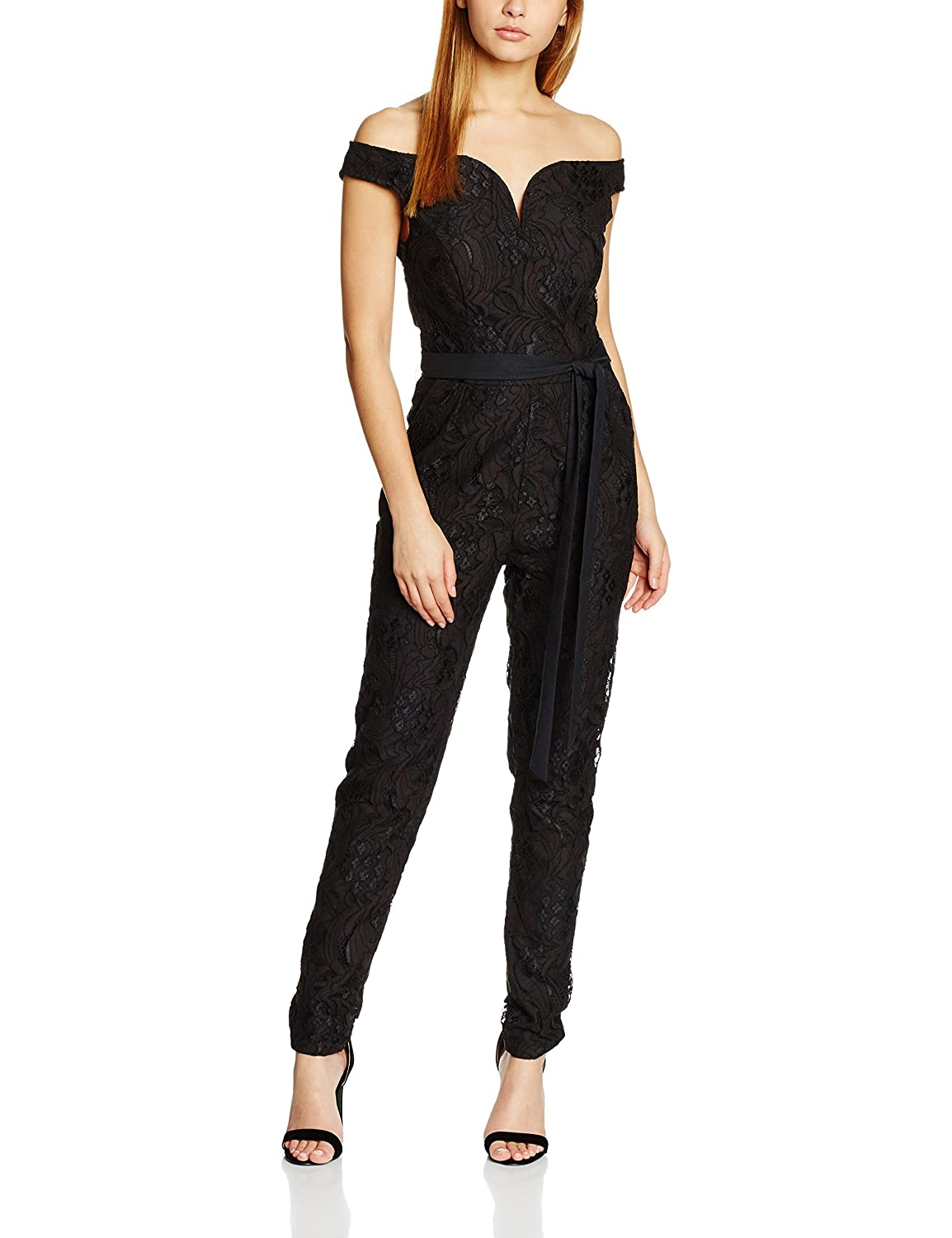 TALLA 38. Little Mistress Lace Jumpsuit Mono Largo para Mujer