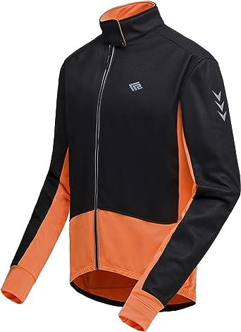 Men Winter Cycling Jacket Bike Windproof Waterproof Soft shell Coat Reflective