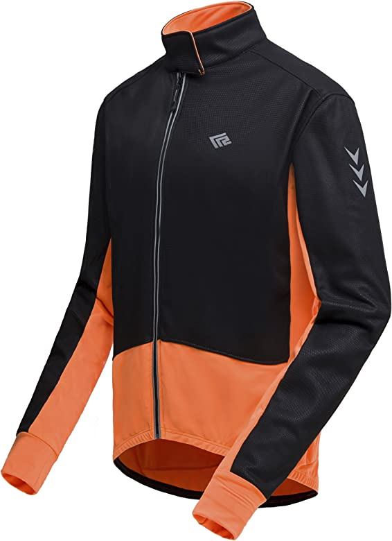RockBros Cycling Jacket Windproof Bike Riding Wind Coat Rain Coat Orange