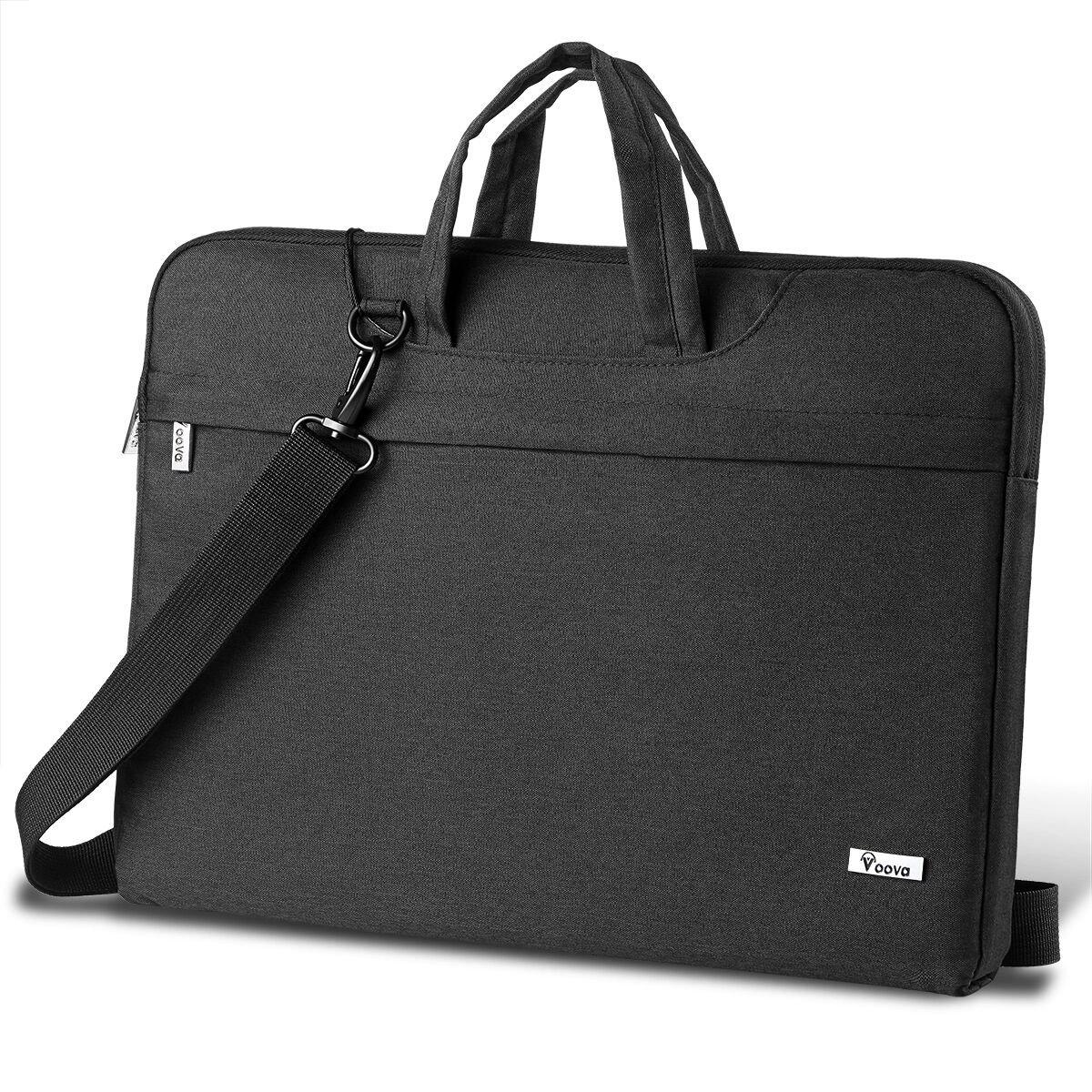 1138322767f1 Voova Laptop Bag 14-15.6Inch Water-resistant Laptop Case with Multiple  Compartment Soft Foam Laptop Sleeve Shoulder Bag Computer Case Briefcase ...