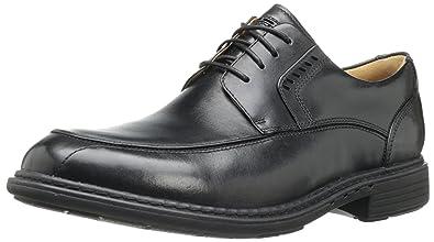 CLARKS Men's UN Rage Oxford,Black Leather,7 ...