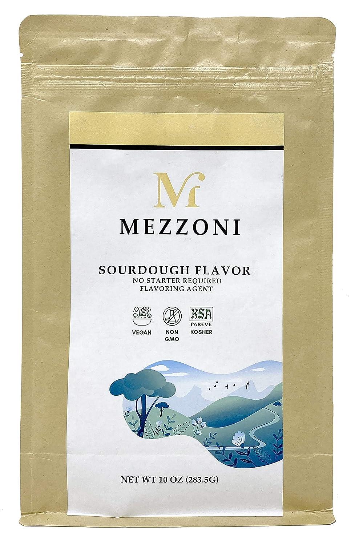 Mezzoni Foods Instant Sourdough Flavor – Vegan, Non-GMO, Kosher Sourdough Starter Replacement 10 Ounce – Easy Sourdough Bread