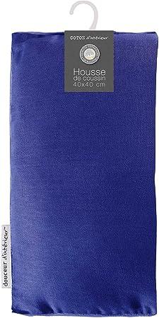 coton dint/érieur coussin 40x40cm coton panama noir