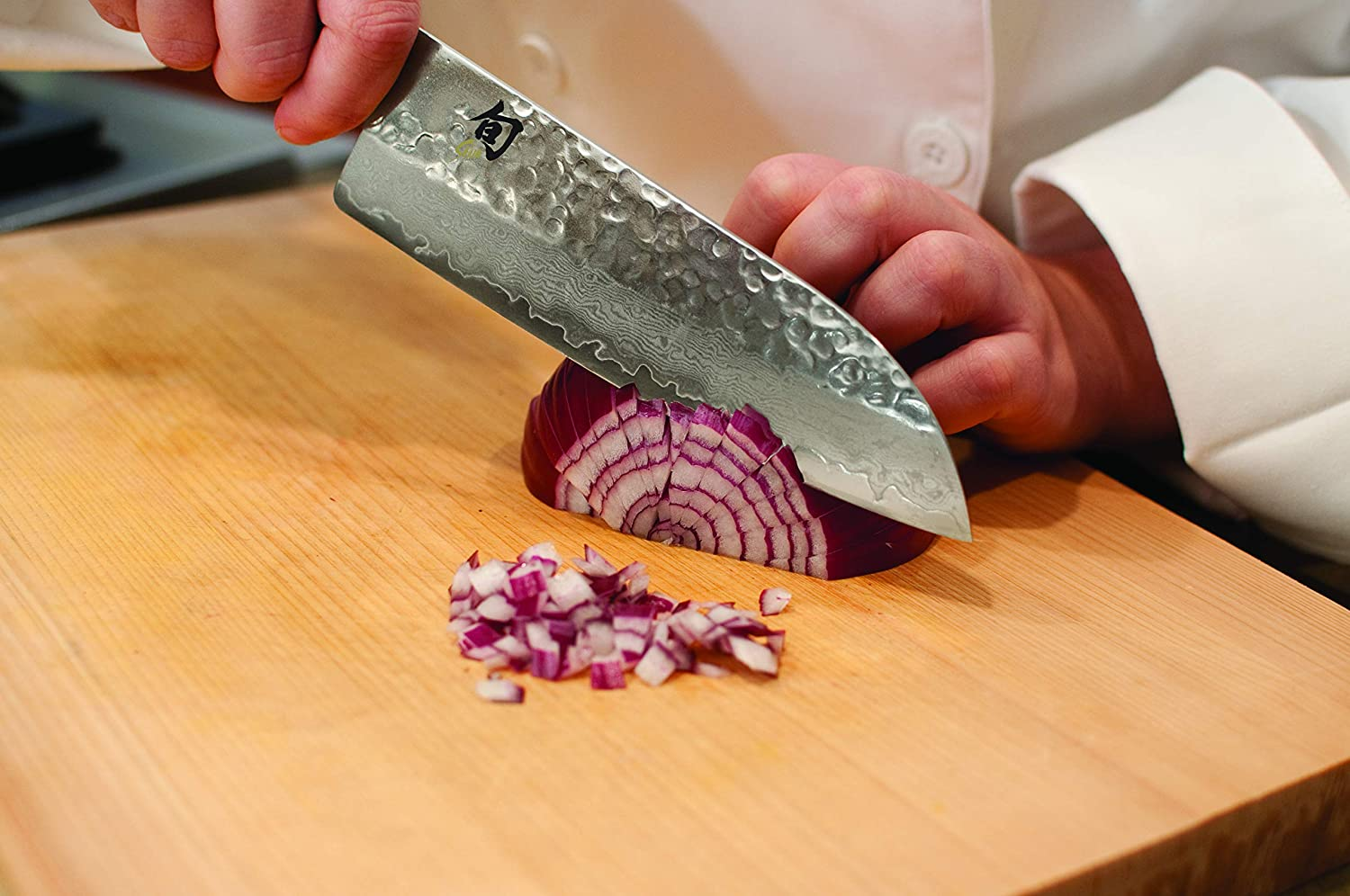 """Shun Cutlery Premier 7"""" Santoku Knife; Easily Handles All Basic Kitchen Cutting Tasks, Light, Agile and Very Easy to Maneuver, Fits in Hand Like a ..."""