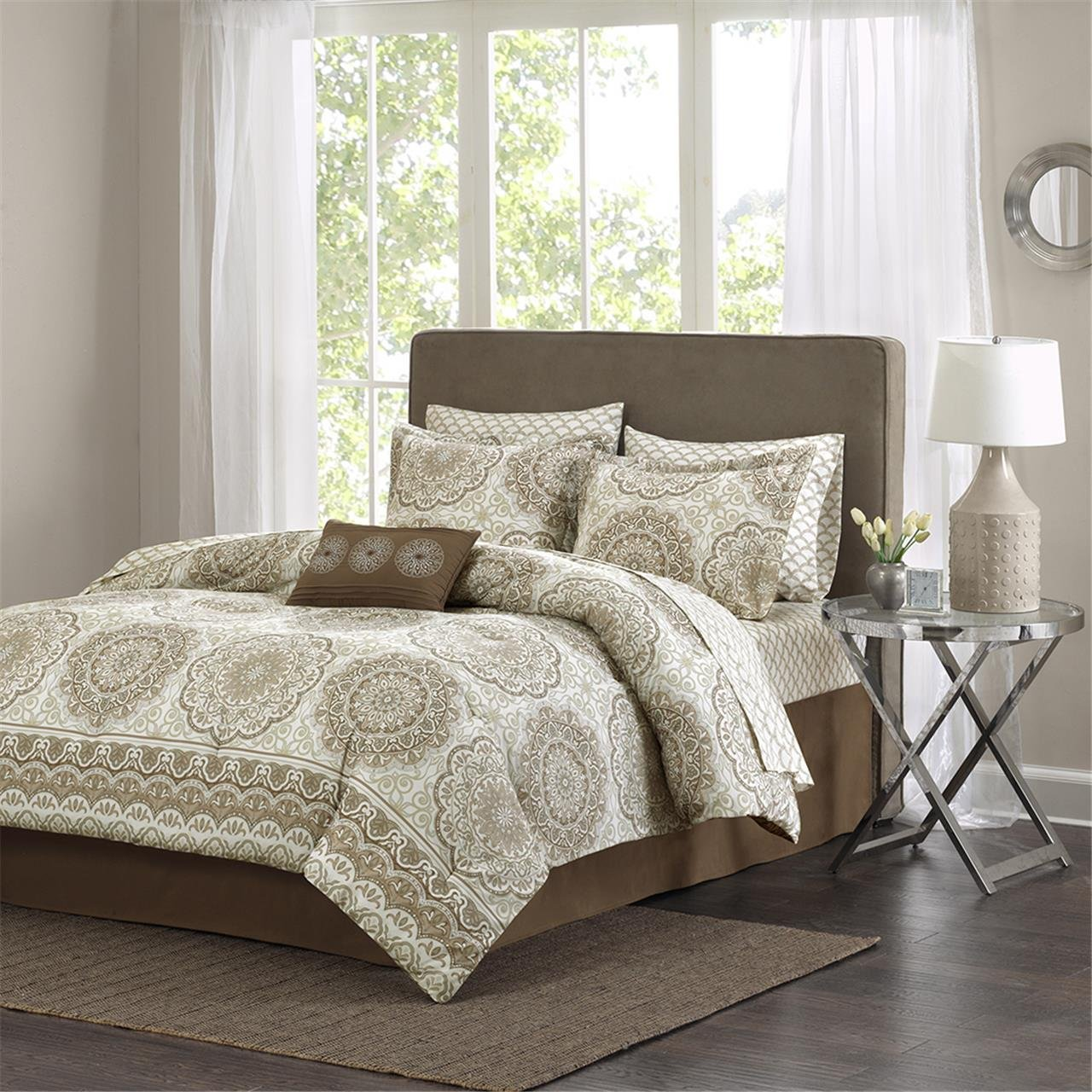 mpe10096 madison park essentials coronado complete bed u0026 sheet set