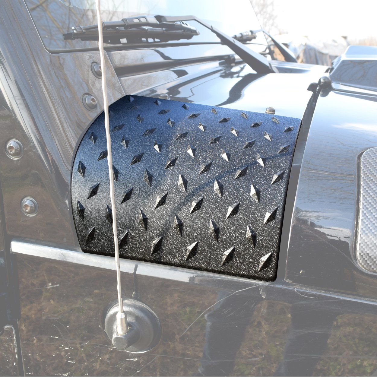 Allinoneparts New Black Cowl Body Armor Cowling for 2007-2017 Jeep Wrangler JK Unlimited Rubicon Sahara Accessories Pair