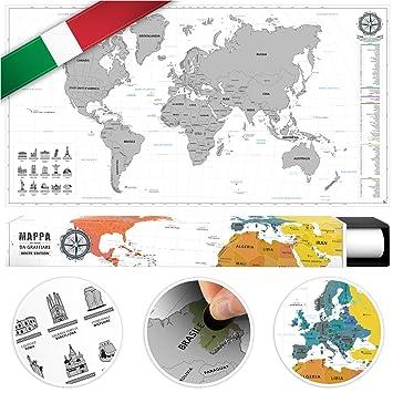 #benehacks Mapa del Mundo en Italiano Tipo póster para rascar SIGA Sus Aventuras de Viaje