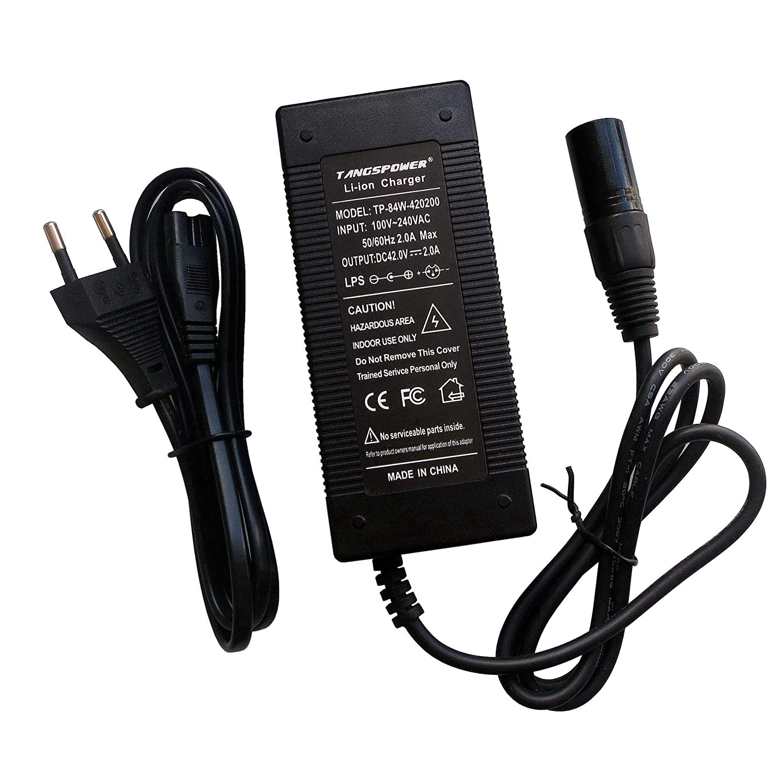 tangspower 36V 2A Chargeur de Batterie de Charge connecteur mâle XLR 42v 2A Chargeur de Li-ION au Lithium Chargeur pour 10S série 36V vélo électrique China