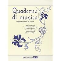 Quaderno di Musica Ricordi -Form 23,5x31,5-64 pag