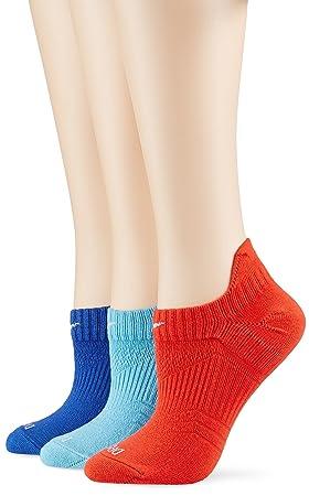 Nike W Nk Perf Cush Ns 3Pr - Calcetines para mujer, color Turquesa/Naranja/Azul marino, talla L, 3 unidades: Amazon.es: Deportes y aire libre