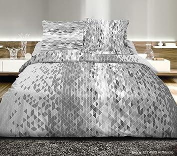 3-Piece Bedding Set for King Size, 240 x 260 cm, 100% Cotton, 57 ...