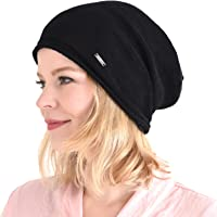 Casualbox 100% Silk Beanie Baggy Organic Natural Chemo Hat Sensitive Skin Oversized Slouchy