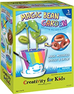 Creativity for Kids Magic Bean Garden, Reveal & Grow Magic Messages - Nature & Garden Kit For Kids
