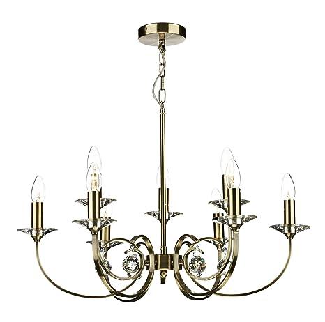 Bonita figura decorativa salón lámpara de techo 9 brazo de ...