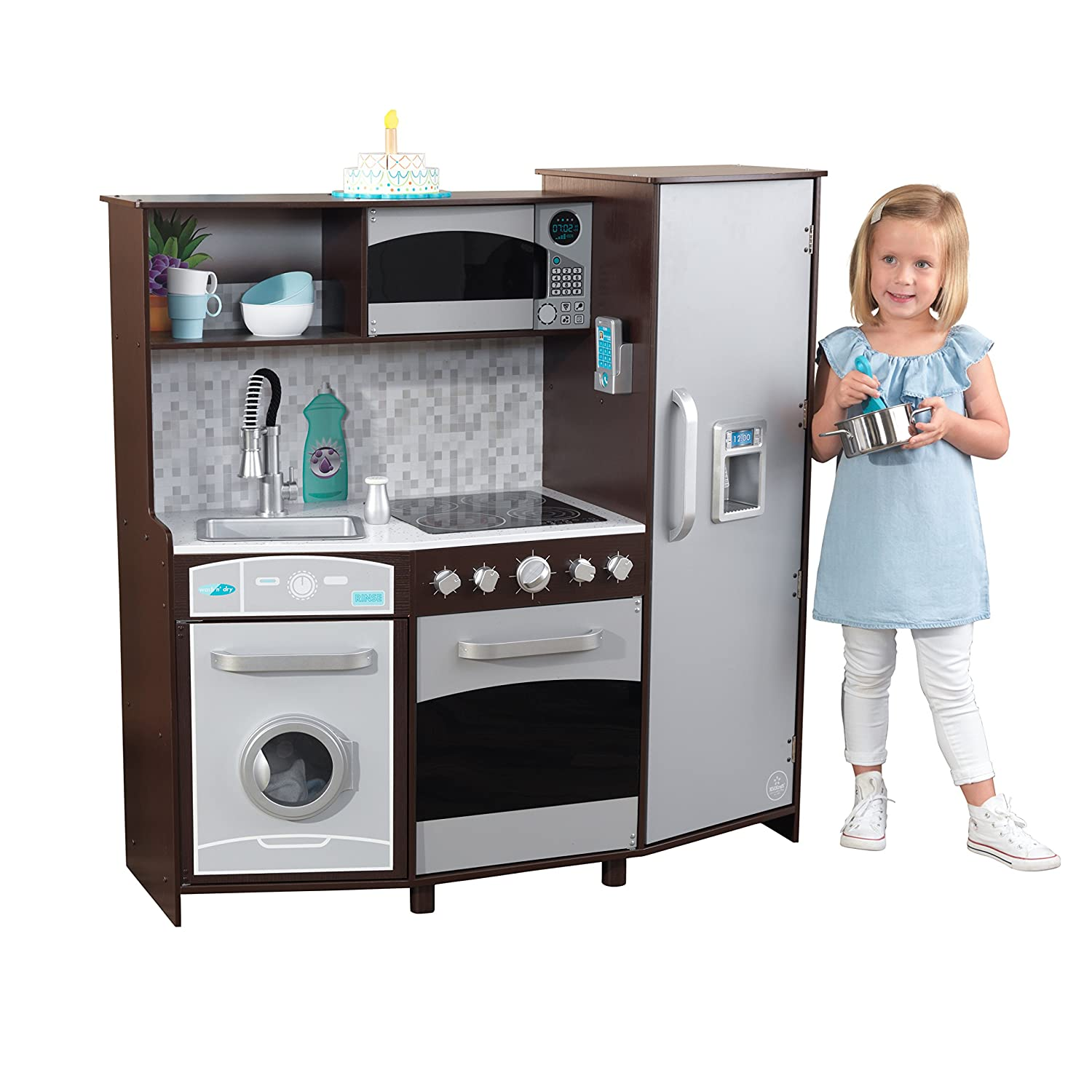 KidKraft Large Play Kitchen with Lights & Sounds - Espresso