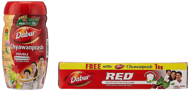 Dabur Chyawanprash 1 kg with Free Dabur Red Tooth Paste