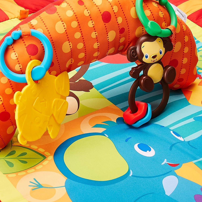 Amazon.com: Bright Starts Safari Aventuras Prop y Play Mat: Baby