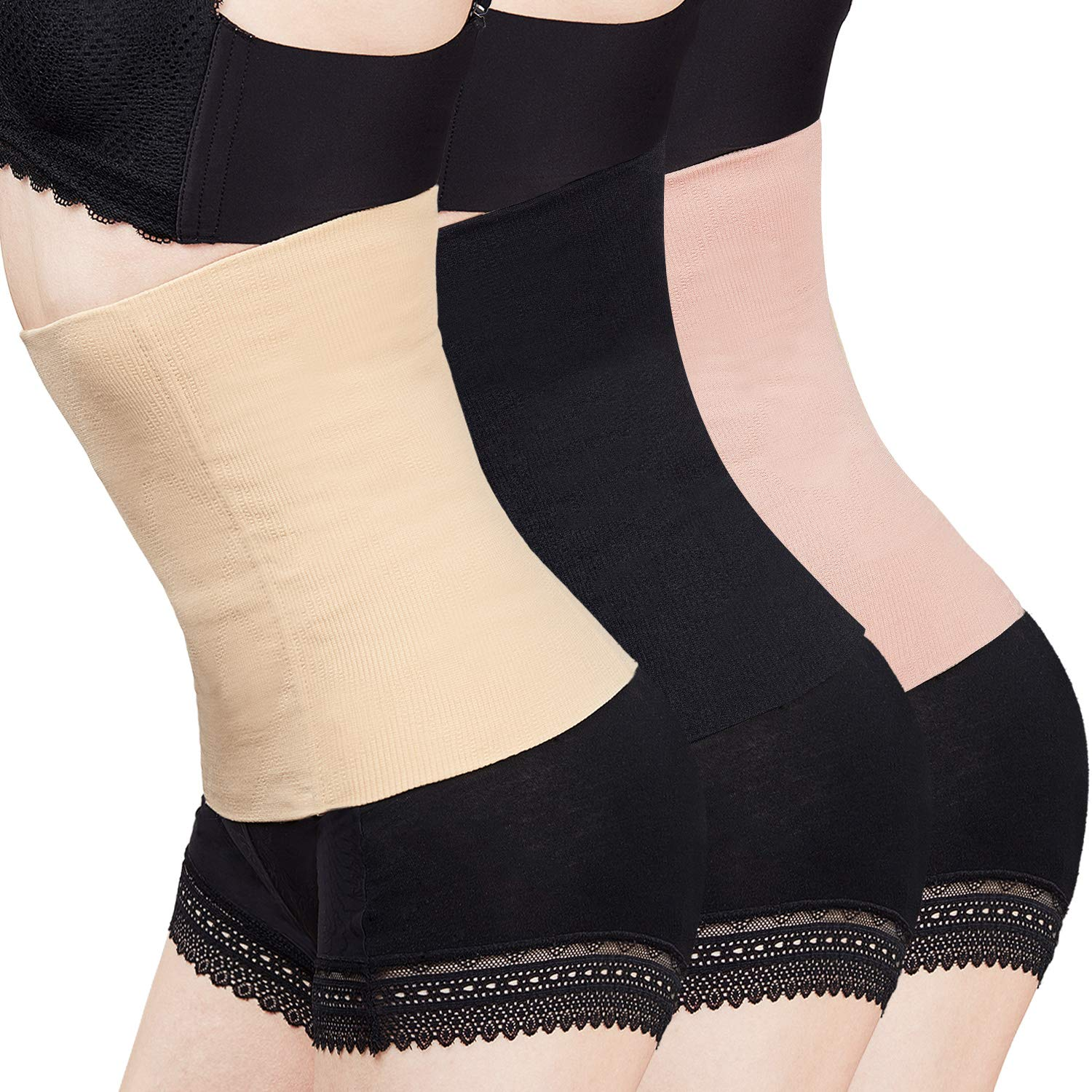 3 Pieces Seamless Postpartum Belly Recovery Band Women Waist Shapewear C-Section Recovery Belt Binder Slimming Shapewear